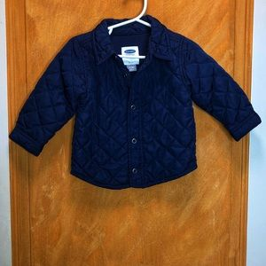 Old Navy Quilted Blue Jacket Size 12-18 Months